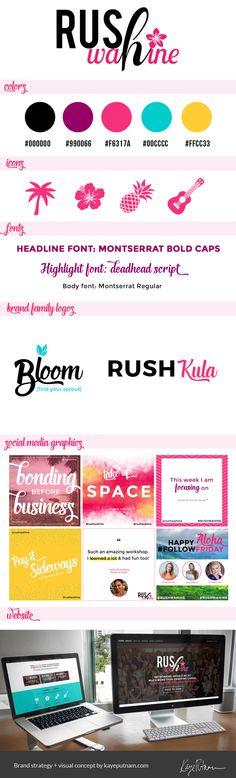 Brand board / #brand #strategy / #branding #design / #logo design by www.kayeputnam.com / #creative #entrepreneur / #identity #business