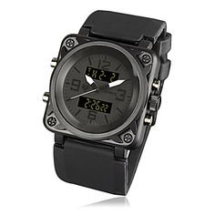 Orologio militare cinturino in caucciù nero sport mens di fanteria dell'esercito lcd forcedigital cronografo (nero)