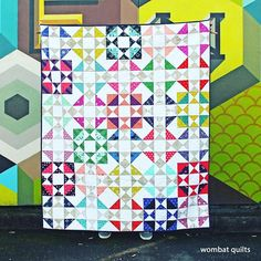 Another Cotton and Steel Friday Finish. The pattern is @vchristenson Hop Skip Jump and the prints are from all different @cottonandsteel lines. #cottonandsteel #charityquilt