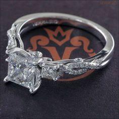 Certified-2Ct-Princess-Cut-White-Diamond-3-Stone-Engagement-Ring-14K-White-Gold