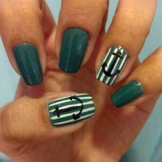 anchor nails #anchor #nails #summer