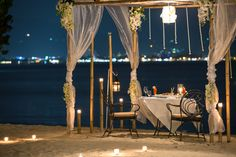 Romantic Private Beachfront Cabana Dining, If you're looking for a romantic seaside restaurant. Seafood and private dinner by the beach at phuket's most romantic dinner. Seaside Restaurant, Restaurant Offers, Romantic Beach, Most Romantic, Thavorn Beach Village, Dinner For One, Birthday Dinners, Romantic Dinners, Phuket