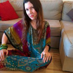 Rainbow boho kaftan Take hippy to the max in this gorgeous free size kaftan. So exotic. Length 50' bust 33' Dresses Maxi