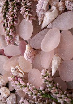 pink sea glass