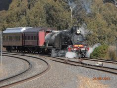 D639 arriving at Castlemaine Railway Station from Melbourne, Victoria, Australia by Catherine McPhie