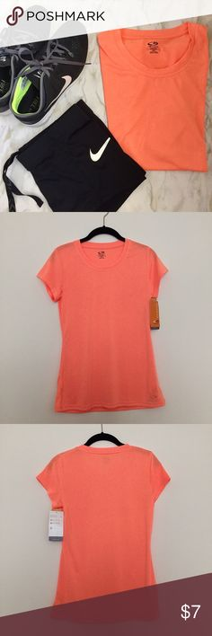 Champion C9 Peach Activewear Tee Never been worn, gorgeous peach color! This tech gear tee is perfect for running, yoga, crossfit or for just going into town! Champion Tops Tees - Short Sleeve