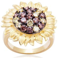 Gold Over Sterling Silver Yellow and Brown Cubic Zirconia Sunflower Ring Joolwe, http://www.amazon.com/dp/B004FKJ6MO/ref=cm_sw_r_pi_dp_Q5.kqb1R37T8G