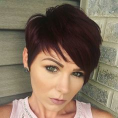 Short red hair! Love all of this texture! More