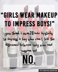 Forestdoll MAC Lipstick Quotes