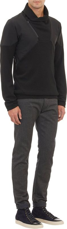 Arc'Teryx Veilance's Diale pullover sweater Women, Men and Kids Outfit Ideas on our website at 7ootd.com #ootd #7ootd