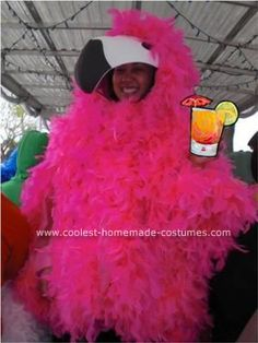 Homemade Flamingo Costume: For our brother's 21st birthday we decided to have an Animal Party Pub Crawl. I couldn't find an animal costume that I loved enough to buy so I decided
