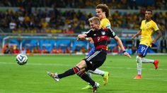 BELO HORIZONTE, BRAZIL - JULY 08: Andre Schuerrle of Germany scores his team's seventh goal and his second of the game during the 2014 FIFA World Cup Brazil Semi Final match between Brazil and Germany at Estadio Mineirao on July 8, 2014 in Belo Horizonte, Brazil... http://1502983.talkfusion.com/products/