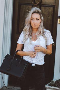 Blondie in the City   YSL Bag   Saint Laurent Sac De Jour Bag   Pink Shoes