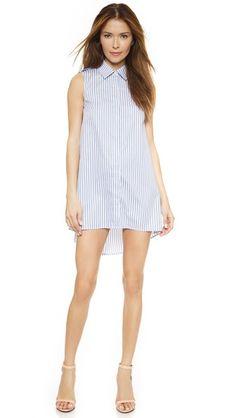 Caroline Constas Alexandra Stripe Shirtdress #Shopbop