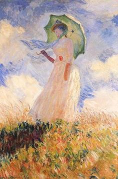 Woman with a Parasol - Claude Monet Jigsaw Puzzle. Woman with Parasol. Monet, Woman With Umbrella Jigsaw Puzzle. Claude Monet( French A Fine Art Jigsaw Puzzle. Artist Monet, Monet Paintings, Abstract Paintings, Painting Art, Landscape Artwork, Impressionist Paintings, Oeuvre D'art, Art History, Fine Art