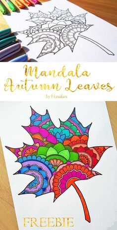 Hattifant's Mandala Autumn Leaves Sun Catcher Papercraft Freebie Hattifants Mandala-Herbstlaub Sun Catcher Papercraft FreebieHere is a gorgeous Sun Catcher Mandala Autumn Leaves craft and coloring idea! and links to lots of other awesome coloring p Autumn Leaves Craft, Autumn Crafts, Autumn Art, Autumn Ideas, Spring Crafts, Arte Elemental, Classe D'art, Fall Art Projects, Easy Projects