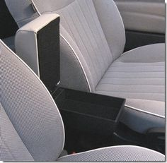 FIAT 500 Armrest with large storage in ivory Eco leather