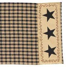 "Star Patch 36"" Table Runner by Primitive Home Decors. $24.95. 100% Cotton Fabric. Star Patch 36"" Table Runner 13"" Wide x 36"" Long 100% Cotton Priced and sold individually. Designed and manufactured by Park Designs. The Star Patch collection from Park Designs includes a full line matching curtains, table linens and kitchen decor. Star"