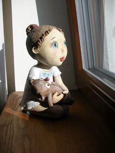 Od Kočidy Ooak Dolls, Art Dolls, Ceramic Pottery, Ceramic Art, Bjd, Clay People, Pottery Sculpture, Glass Paperweights, Clay Projects