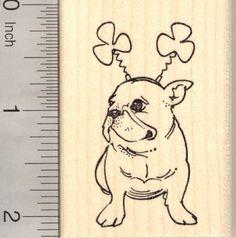 French Bulldog Rubber Stamps (RubberHedgehog.Com)
