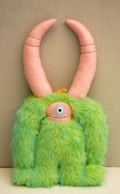 Leroy - Handstitched Plush Monster by dkoss2 $65.00