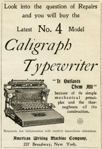 vintage typewriter clip art, free black and white clipart, antique office graphic, printable typewriter image, old magazine ad