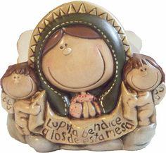 Servilletero de cerámica pintada a mano. Medidas:25x20cm www.barenka.com
