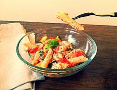 Maccheroni alla ricotta, pomodoro e zucchine