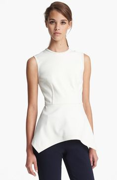 Yigal Azrouël Sleeveless Peplum Top available at #Nordstrom