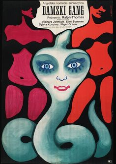 Wiktor Gorka's 1969 poster.  Post-war, communist Poland was in love with British cinema, but disapproved of   film posters covered in 'guns and women'. Instead it produced some rather   puzzling versions of its own...