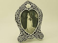 'Sterling Silver Frame - Antique Victorian' - For more antique and vintage frames & mirrors, join us at http://www.acsilver.co.uk/shop/pc/Frames-Mirrors-c56.htm