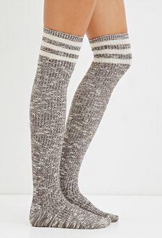 Marbled varsity knee high socks