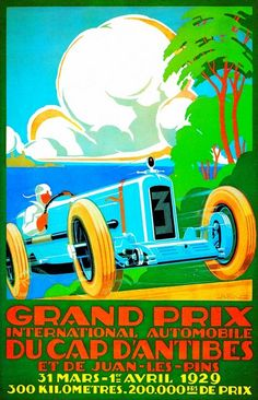 """""""Vintage Advertisement Europe Auto Race Rally"""" by Johnny Bismark, Tropical Oasis // Imagekind.com – Buy stunning, museum-quality fine art prints, framed prints, and canvas prints directly from independent working artists and photographers."""