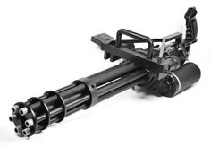 The Airsoft Minigun by Craft Apple Works is the ultimate in Airsoft Extremism! Made by wicked ninjas in Japan, this destroyer of worlds airsoft gun is the ultimate support weapon. This package includes long and short barrels that rotate. Zombie Weapons, Weapons Guns, Guns And Ammo, Zombie Apocalypse, Cosplay Weapons, Military Weapons, Airsoft Grenade, Airsoft Gear, Big Guns