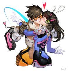 Whaaat???? Love! Love! Tracer,Overwatch,Blizzard,Blizzard Entertainment,фэндомы,D.Va,Overwatch art