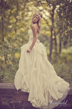 I want some bridal portraits surrounded by trees!!