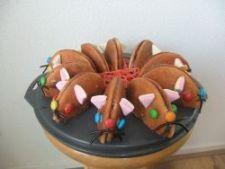 zelfgemaakte muizen van eierkoeken