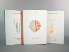 Another project in my illustration class was to create special edition hardcovers for critically acclaimed food writer Michael Pollan. We selected, Food Rules, Cooked and The Omnivore's Dilemma.   ...