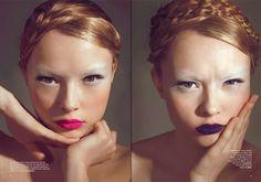 INSPIRATION: split personality beauty