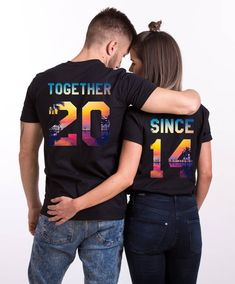 Anniversary Gifts Together Since Shirts Anniversary Gift Ideas Matching Shirts Couple Shirts Together Since UNISEX Price per shirt - Together Since Shirts - Ideas of Together Since Shirts - Cute Couple Shirts, Matching Couple Shirts, Matching Couples, 10 Year Anniversary Gift, Anniversary Ideas For Him, Aniversary Ideas, Couple Outfits, Unisex, Gift Ideas