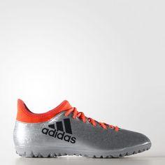 X 16.3 Turf Shoes - Silver Tenis 3523fa02afb3e