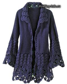 Automne bleu foncé et un chandail hiver DJI - Renee - Lei Yu Xuan The Picasa link does not work. Cardigan I would like to make ~! Cardigan Au Crochet, Crochet Coat, Crochet Jacket, Cardigan Pattern, Crochet Clothes, Crochet Video, Mode Crochet, Crochet Fashion, Beautiful Crochet