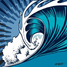looking for outdoor murals for a big wall in the back garden. This wave is cool.