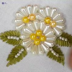 Creative ideas for hand embroidery by creative mothers. Creative ideas for hand embroidery by creative mothers. Diy Embroidery Thread, Bead Embroidery Tutorial, Hand Embroidery Videos, Bead Embroidery Patterns, Hand Embroidery Flowers, Hand Work Embroidery, Bead Embroidery Jewelry, Hand Embroidery Designs, Beaded Embroidery