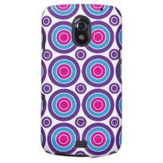 Fun Hot Pink Purple Teal Concentric Circles Design Samsung Galaxy Nexus Case