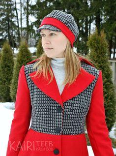 Peak hat with pattern! / Nokaga talvemüts; lõige ja juhend!