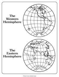 Map Western Hemisphere And Eastern Hemisphere