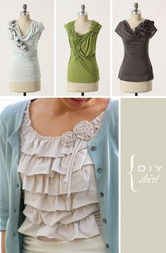 Beautiful DIY shirts.
