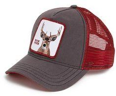Price:EUR 30.00 Men's Goorin Brothers 'Animal Farm - Buck Fever' Trucker Cap - Brown/Red ONE SIZE