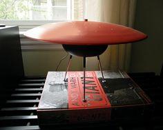 Strange 1950's UFO lamp by Mad Modern, via Flickr